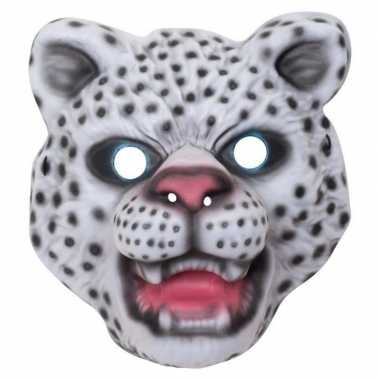 Sneeuwluipaard/sneeuwpanter verkleed dierenmasker voor kinderen