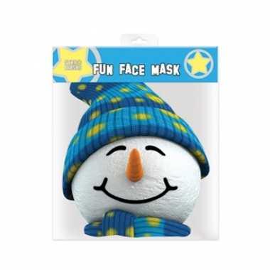 Sneeuwpop gezichtsmasker