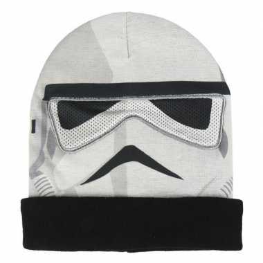 Star wars stormtrooper masker muts voor jongens