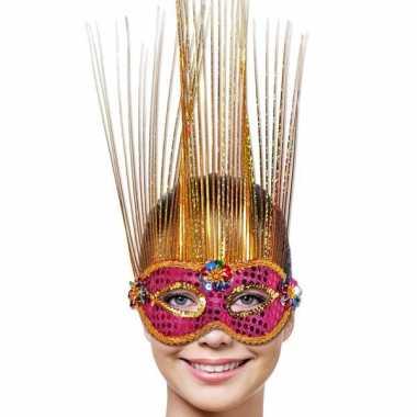Venetiaans masker met folie sprieten