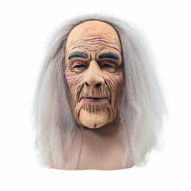 Verkleed abraham masker met lang haar