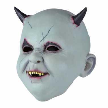 Verkleed duivel babies masker met speen