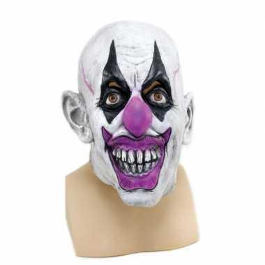 Verkleed enge clown masker voor volwassenen