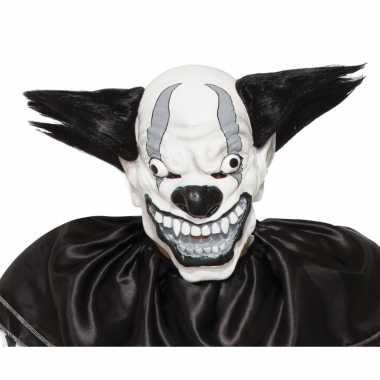 Verkleed enge clown masker zwart voor volwassenen