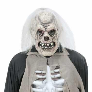 Verkleed schedel masker voor volwassenen