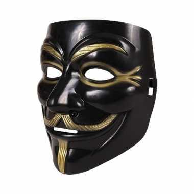 Verkleed vendetta masker zwart