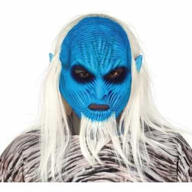 White walker zombie horror masker van latex