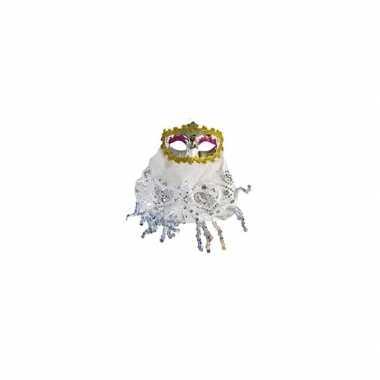 Wit oogmasker met glitters