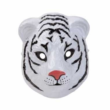 Witte tijger masker 3d plastic 22cm