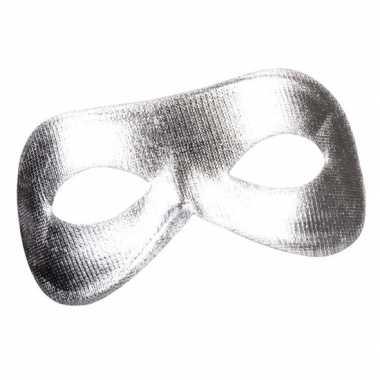Zilveren metallic oogmasker voor dames