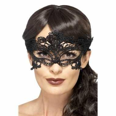 Zwart kanten oogmasker voor dames