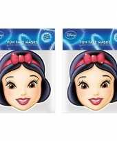 2x sneeuwwitje kartonnen maskers