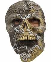 Ghoulish skelet horror latex masker voor volwassenen
