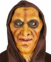 Hagedis man horror masker van latex met capuchon