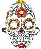 Halloween day of the dead sugarskull halloween gezichtsmasker voor dames