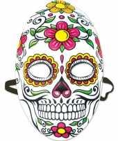 Halloween day of the dead sugarskull halloween gezichtsmasker voor dames