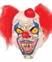 Horror clown masker met hoedje