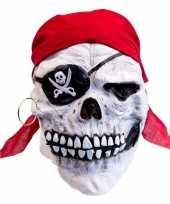 Latex horror masker doodskop piraat