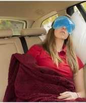 Luxe blauw gel oogmasker slaapmasker
