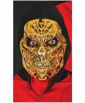 Metallic gouden horror skelet masker