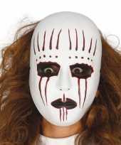Moordenaar mime masker voor horror themafeest