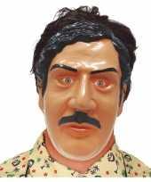 Pablo escobar drugsdealer verkleed masker voor volwassenen