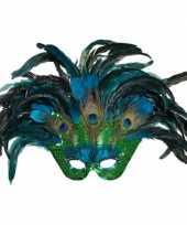 Pauwenveren masker