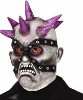 Punk zombie horror masker van latex