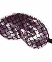 Slaapmasker oogmasker zeemeermin roze zwart voor volwassenen