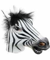 Verkleed masker zebra