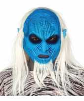 White walker zombie horror masker van latex
