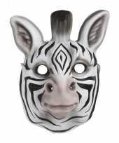 Zebra verkleed dierenmasker voor kinderen